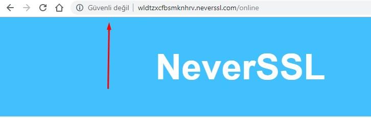 SSL Sertifikası Yok